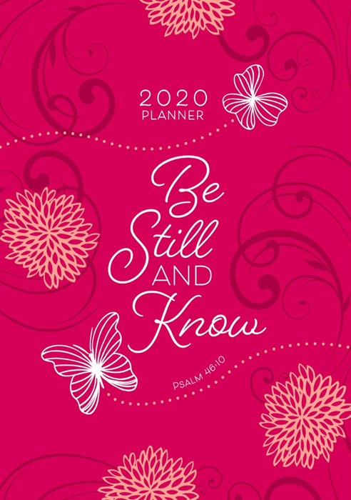 2020 16 Month Weekly Planner, Be Still And Know (Imitation Leather)