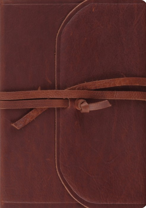 ESV Journaling Bible, Interleaved Ed. Brown, Flap with Strap (Imitation Leather)