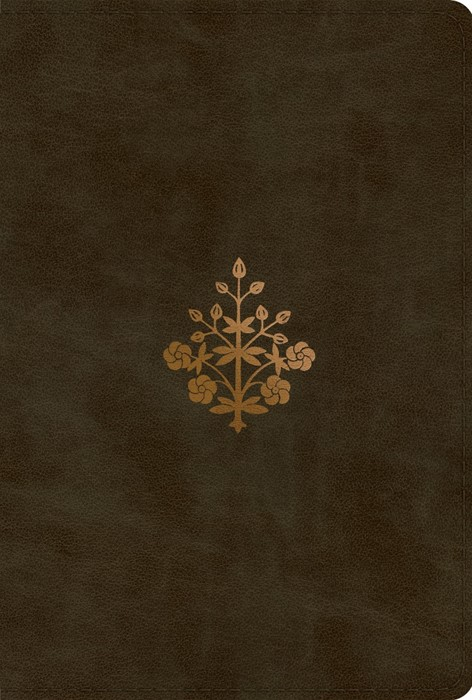 ESV New Testament, TruTone, Olive, Branch Design (Imitation Leather)