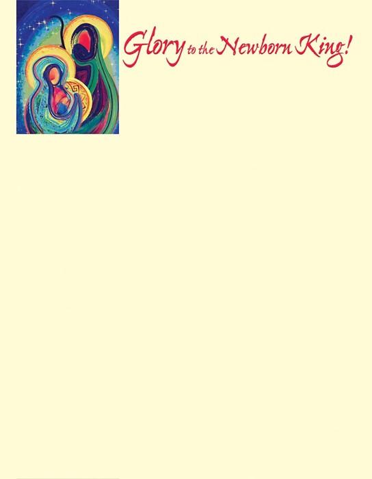 Newborn King Nativity Christmas Letterhead (Pkg of 50) (Bulletin)