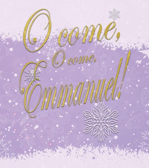 O Come Advent Bulletin, Large (Pkg of 50) (Bulletin)