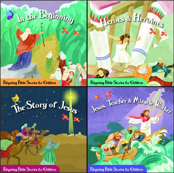 Rhyming Bible Stories for Children (Display Box of 4 titles) (Counterpack-Filled)