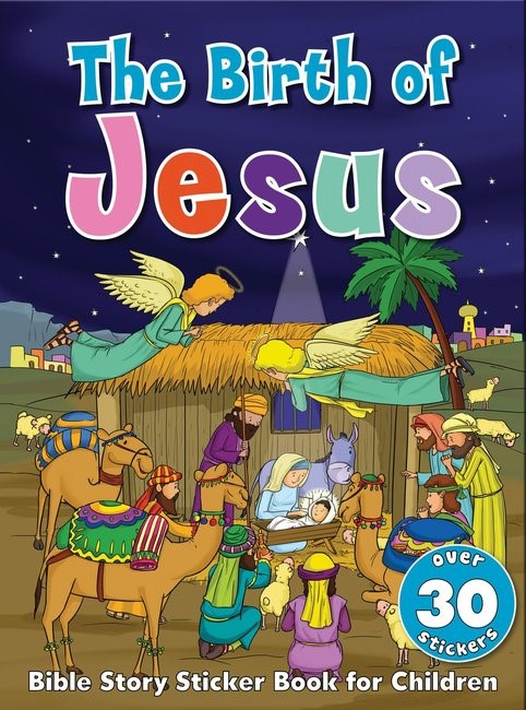 Bible Story Sticker Book for Children: The Birth of Jesus (Paperback)