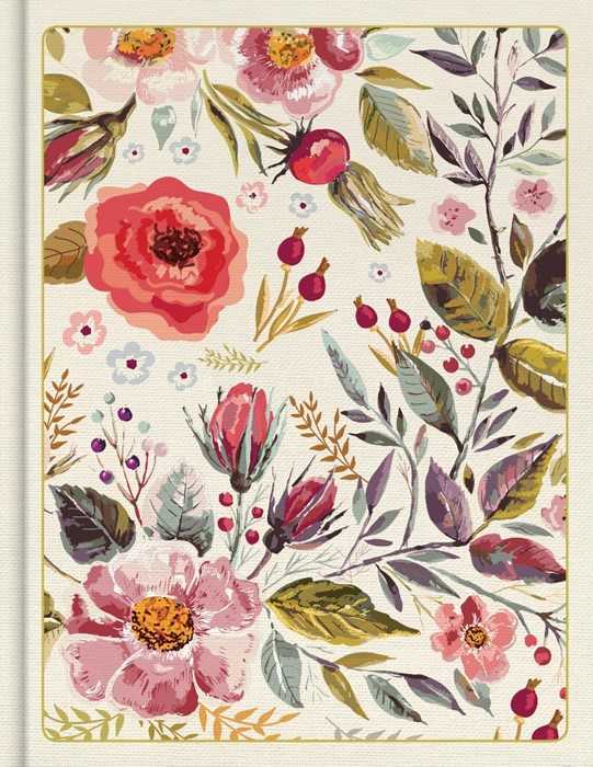 CSB Notetaking Bible, Floral Cloth-Over-Board (Hard Cover)