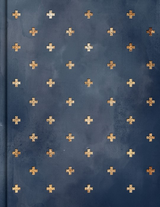 CSB Notetaking Bible, Navy/Cross Cloth-Over-Board (Hard Cover)