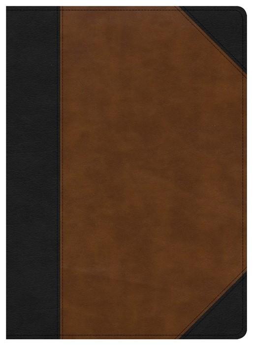 CSB Study Bible, Black/Tan LeatherTouch (Imitation Leather)