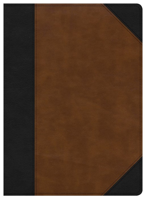 CSB Study Bible, Black/Tan LeatherTouch, Indexed