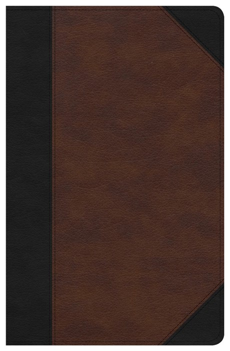 CSB Ultrathin Reference Bible, Black/Tan, Deluxe Edition (Imitation Leather)