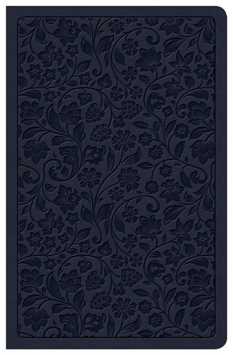 CSB Ultrathin Reference Bible, Navy, Deluxe Edition (Imitation Leather)
