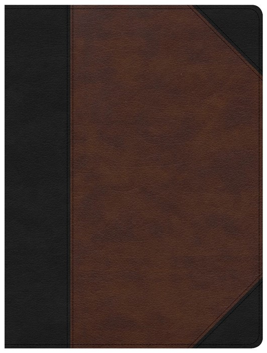 CSB Tony Evans Study Bible, Black/Brown LeatherTouch (Imitation Leather)