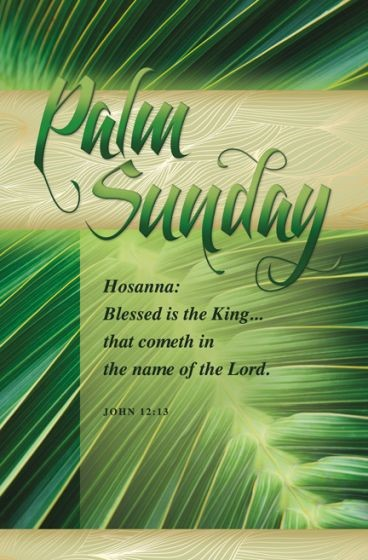 Palm Sunday Hosanna Bulletin (Pack of 100) (Bulletin)