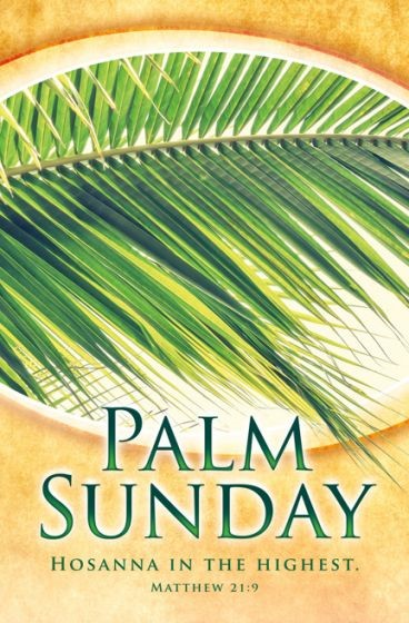 Palm Sunday Hosanna in the Highest Bulletin (Pack of 100) (Bulletin)