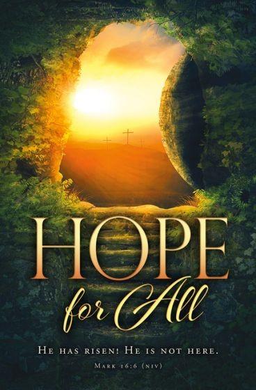 Easter Hope for All Bulletin (Pack of 100) (Bulletin)