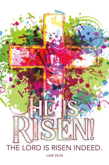 Lord is Risen Easter Bulletin (Pack of 100) (Bulletin)