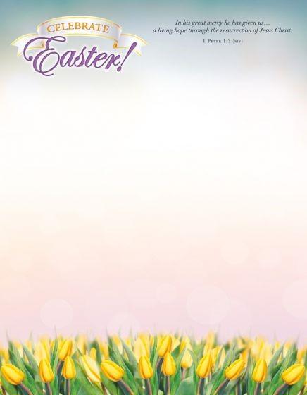 Celebrate Easter! Letterhead (Pack of 100) (Bulletin)