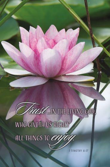 Trust in the Living God Bulletin (Pack of 100) (Bulletin)