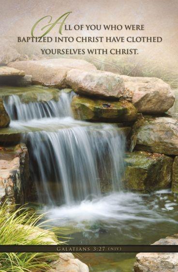 Baptized Into Christ Bulletin (Pack of 100) (Bulletin)