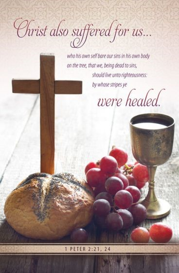 Christ Suffered for Us Communion Bulletin (Pack of 100) (Bulletin)