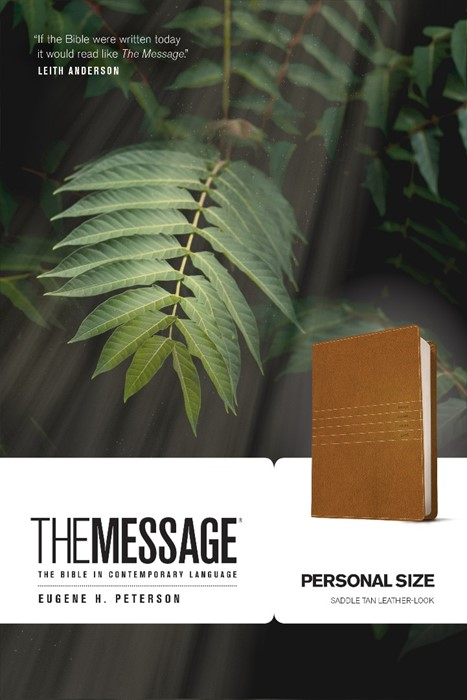 Message, The, Personal Size, Saddle Tan (Leather Binding)