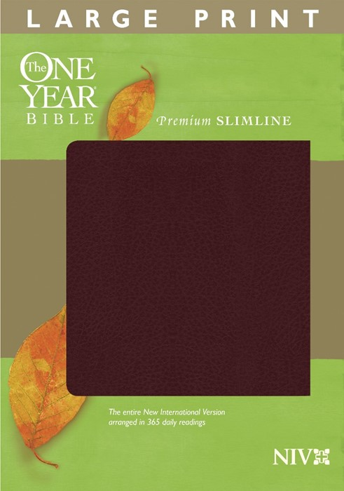 The NIV One Year Bible Premium Slimline Large Print (Bonded Leather)