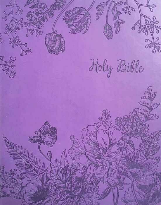 KJV Sword Study Bible, Personal Size, Large Print, Purple (Imitation Leather)