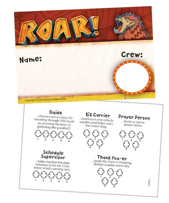 Roar Name Badges (Pack of 10) (General Merchandise)