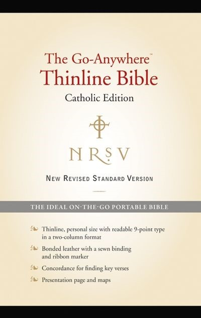 NRSV Go-Anywhere Thinline Bible Catholic Edition, Black (Bonded Leather)