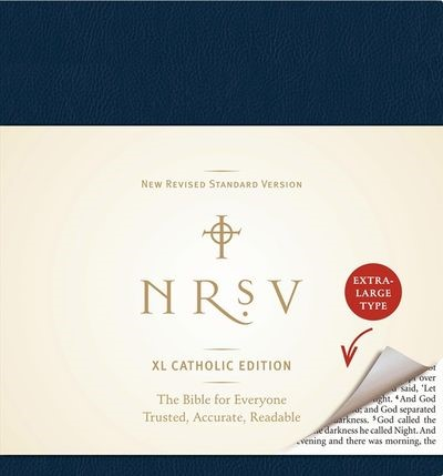 NRSV XLarge Catholic Edition Bible, Navy (Hard Cover)