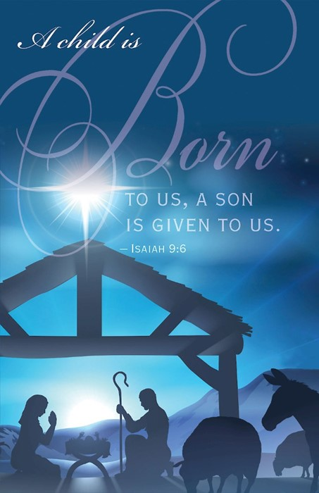 Born Nativity Christmas Bulletin (pack of 50) (Bulletin)