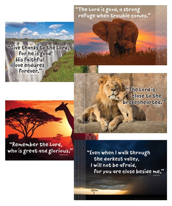 Bible Verse Posters (Set of 5) (Poster)