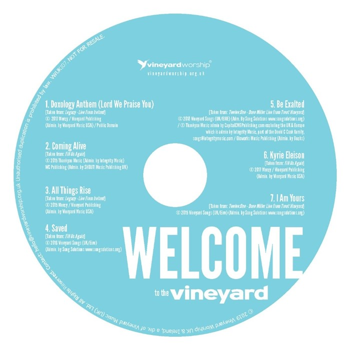 Welcome to the Vineyard CD (pack of 25) (CD-Audio)