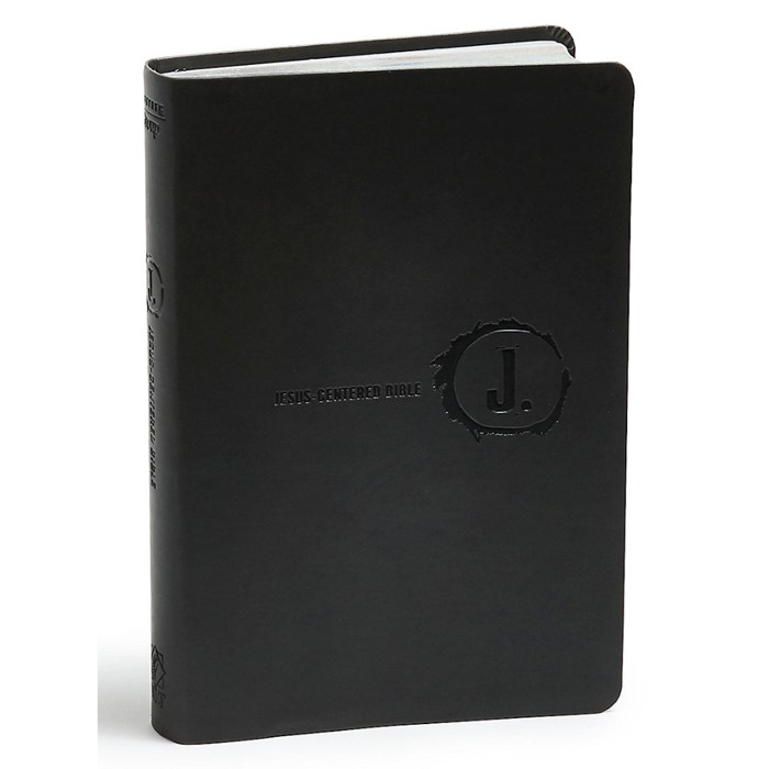 NLT Jesus Centered Bible, Charcoal (Imitation Leather)