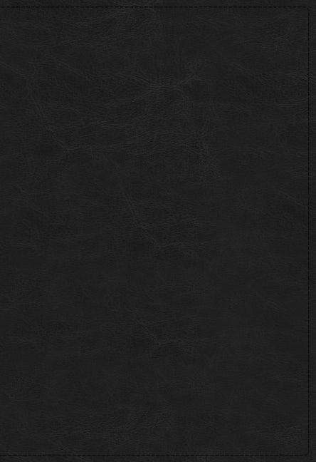 KJV Open Bible, Black, Indexed, Red Letter, Comfort Print (Imitation Leather)