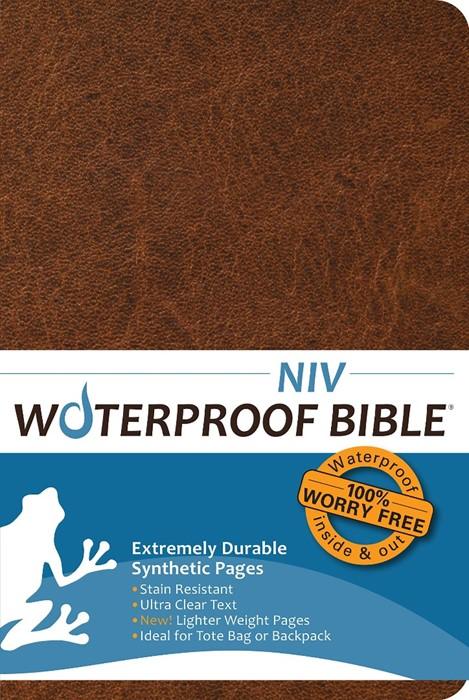 NIV Waterproof Bible, Brown
