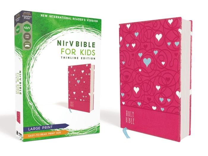 NIrV Bible for Kids, Pink, Large Print
