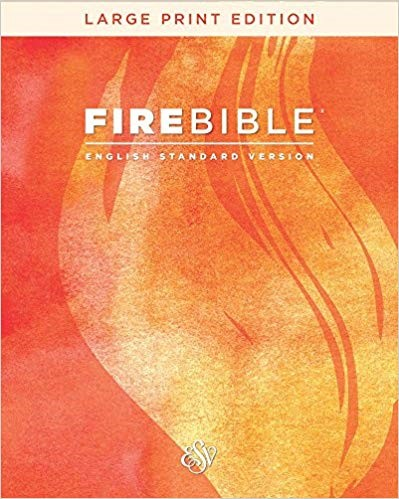 ESV Fire Bible, Large Print, Bonded Leather (Bonded Leather)