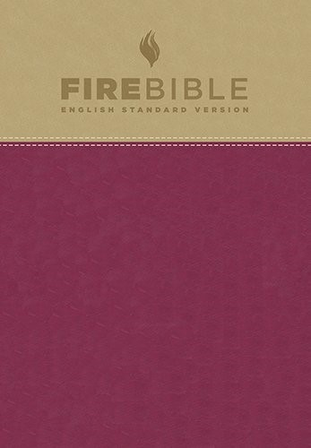 ESV Fire Bible, Tan/Berry (Imitation Leather)