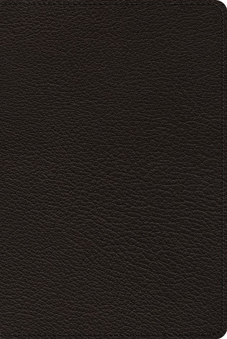 ESV Bible with Creeds and Confessions, Goatskin, Black (Genuine Leather)