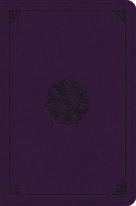 ESV Large Print Bible, Lavender, Emblem Design (Imitation Leather)