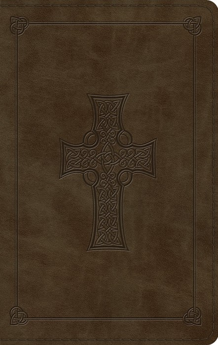 ESV Large Print Thinline Bible, TruTone, Olive, Celtic Cross (Imitation Leather)