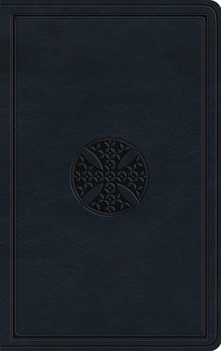 ESV Large Print Value Thinline Bible, TruTone, Navy (Imitation Leather)