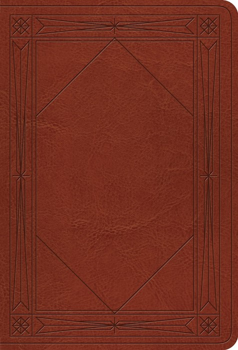 ESV Value Large Print Compact Bible, Tan, Window Design