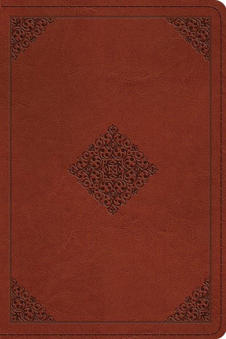 ESV Personal Reference Bible, Saddle, Ornament Design (Imitation Leather)