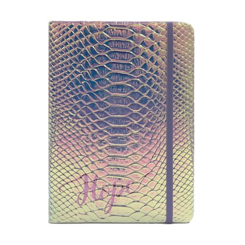 Iridescent Faux Crocodile Journal Hope (Hard Cover)