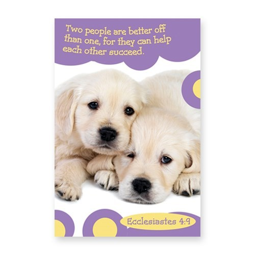 Memo Pad Cute Puppy Ecclesiastes 4:9 (Notebook / Blank Book)