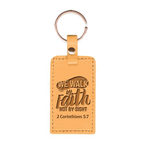 Leather Lux Keyring Walk by Faith (Keyring)