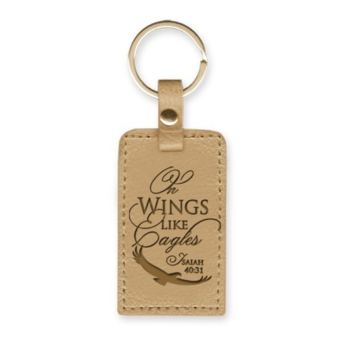 Leather Lux Keyring On Wings Like Eagles (Keyring)