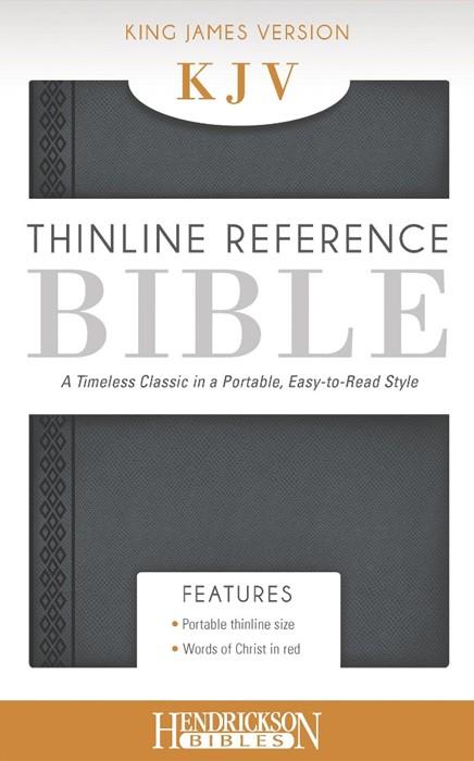 KJV Thinline Reference Bible, Grey (Flexisoft)