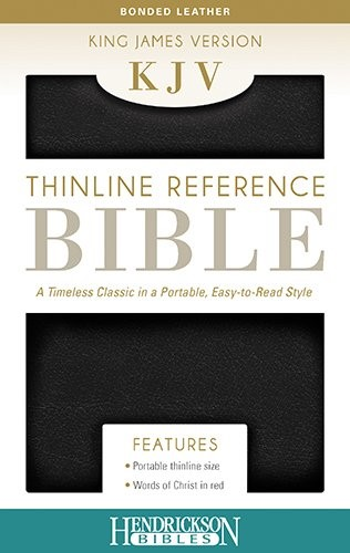 KJV Thinline Reference Bible, Black (Bonded Leather)