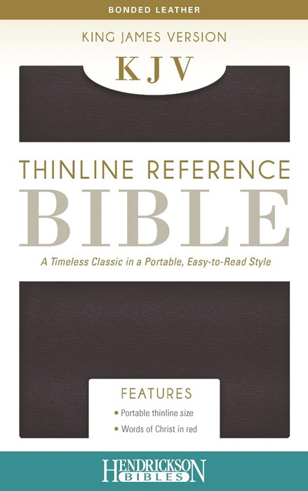 KJV Thinline Reference Bible, Burgundy (Bonded Leather)